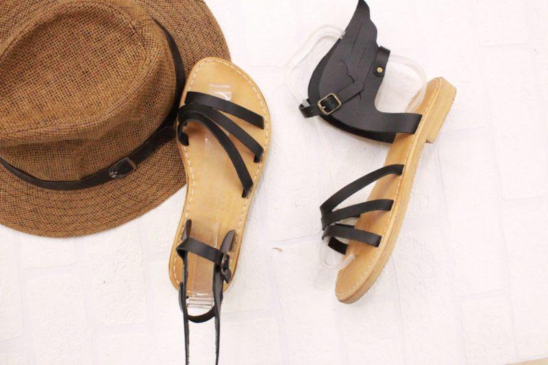 ermis sandals black