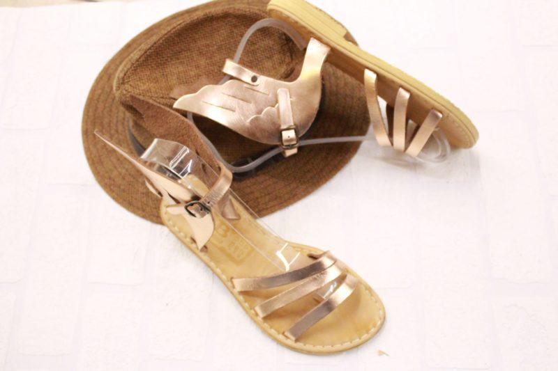 ermis sandals bronze