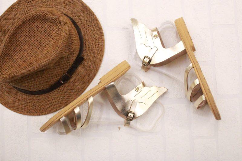 ermis sandals gold
