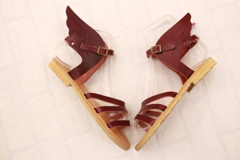 ermis sandals red